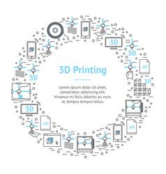3d printing banner card circle vector image