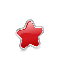 3d red star icon vector image