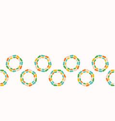 Abstract dotty retro circles pattern vector