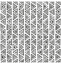 abstract geometric pattern with triangles hand vector image