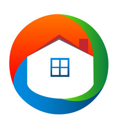 Abstract house and home icon vector