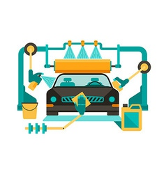 Automatic car wash vector