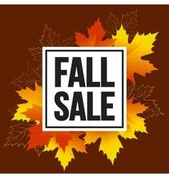 Autumn seasonal banner design Fall leaf vector