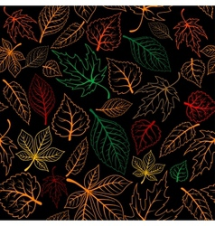 Autumnal leaves seamless background vector image