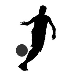 basketball player guide the ball silhouette vector image