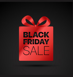 black friday shopping tag label vector image