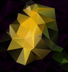 Black yellow abstract polygon triangular pattern vector