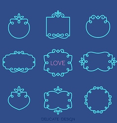 Blue Frame Template Set vector image