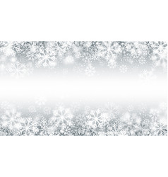 blurred motion falling snow border 3d effect with vector image