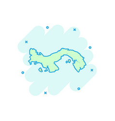 Cartoon panama map icon in comic style panama vector