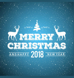 christmas card with blue snoy background vector image