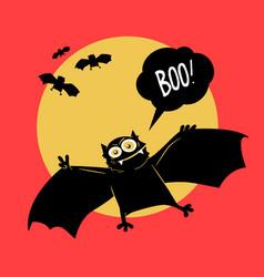 comical devil horror flying vector image