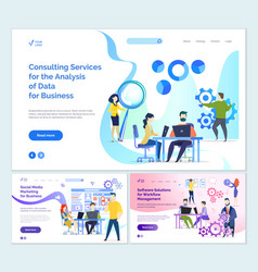 Consulting services analysis business data vector