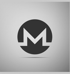 cryptocurrency coin monero xmr icon isolated on vector image