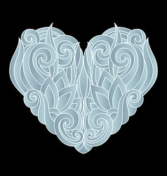 Deco Abstract Heart vector