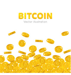 falling gold bitcoins cartoon frame vector image