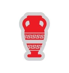 Flat web icon on white background amphora vector