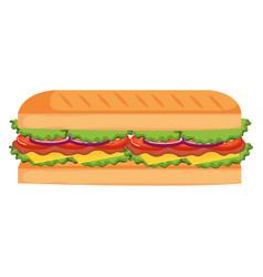 Fresh and delicious sandwish vector
