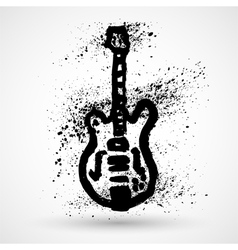 Grunge styled guitar vector