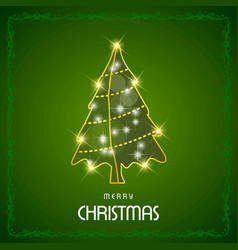 happy christmas happy new year merry christmas vector image