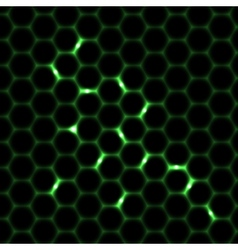 Honeycomb seamless pattern background vector image