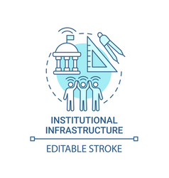 Institutional infrastructure blue concept icon vector