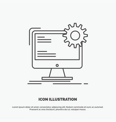 internet layout page site static icon line gray vector image