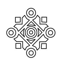 islamic ornament icon doodle hand drawn vector image