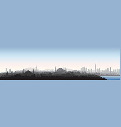 Istanbul city skyline travel turkey background vector