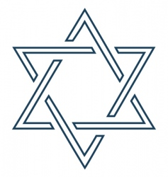 Jewish mage David star design vector image