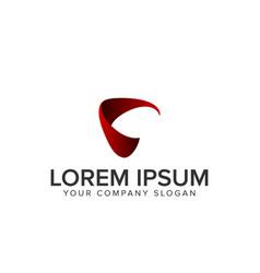 letter c modern logo vector image