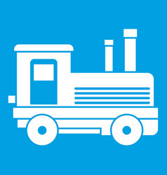 locomotive icon white vector image