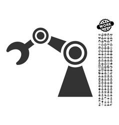 Manipulator icon with men bonus vector