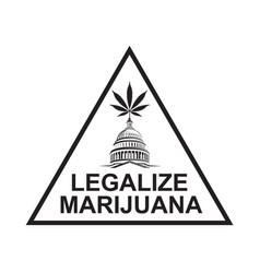 marijuana leaf on capitol vector image