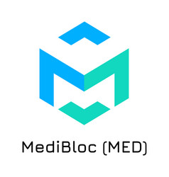 Medibloc med crypto coin ic vector