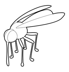 Mosquito icon outline style vector