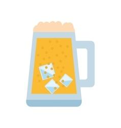 mug glass beer foam ice drink vector image