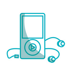 music mp3 player icon vector image