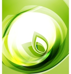 nature wave abstract background vector image