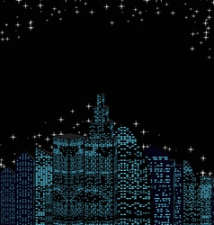night skyline vector image