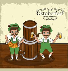 Oktober festival concept vector