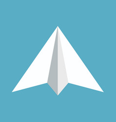 Paper plane icon papercraft origami airplane vector