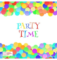 Party Seamless Pattern Confetti vector