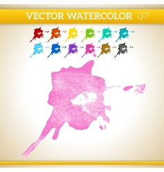 Pink Watercolor Artistic Splash for Design and vector image