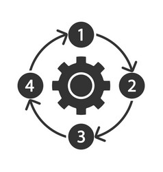 Process diagram glyph icon pfd flowsheet vector