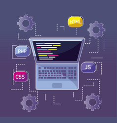 Program coding concept vector