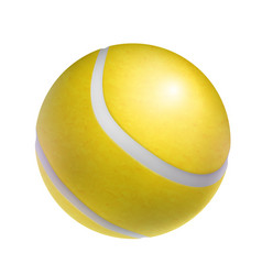 realistic yellow tennis ball object vector image