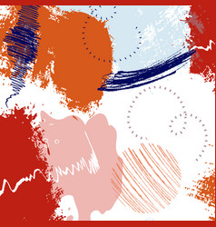 red bright painted texture freehand violet vector image