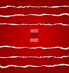 Red torn paper vector image