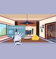 Robotic hand using smart home app of control vector